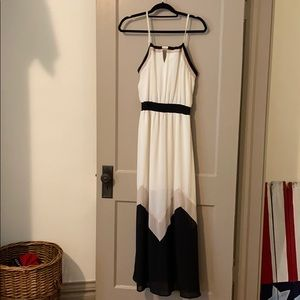 Ivory chevron maxi dress